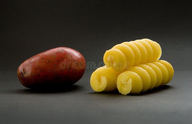 De Spiralen van de aardappel stock foto's