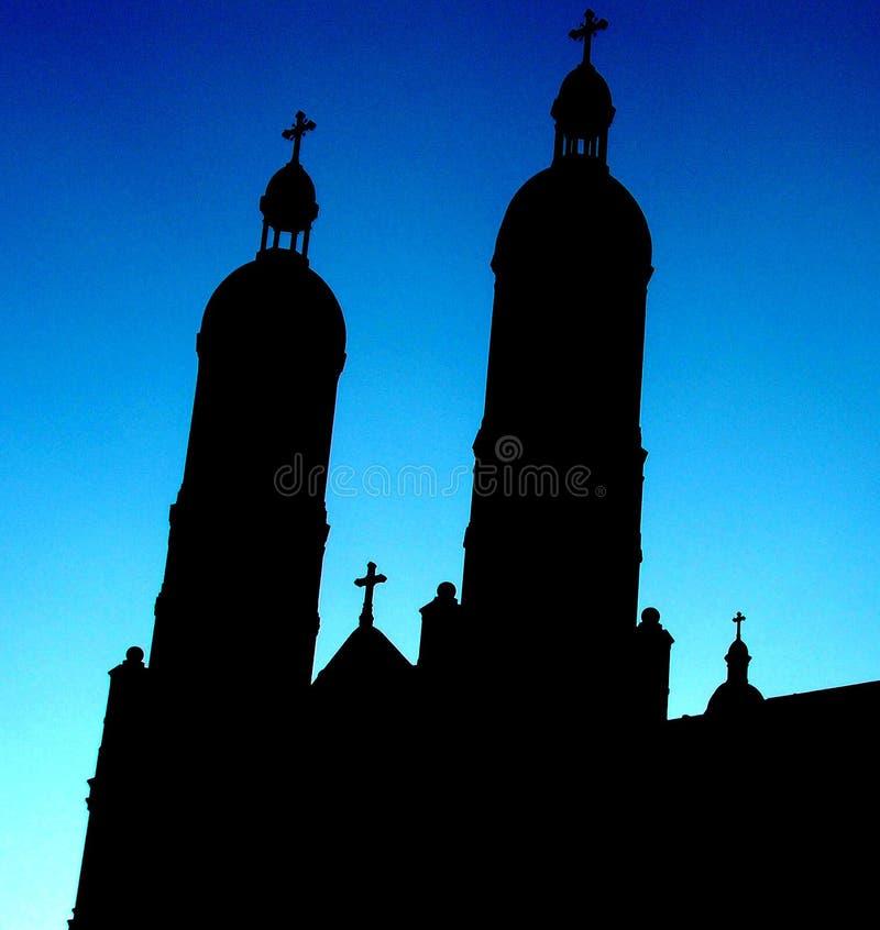De Spitsen Van De Kerk Stock Foto