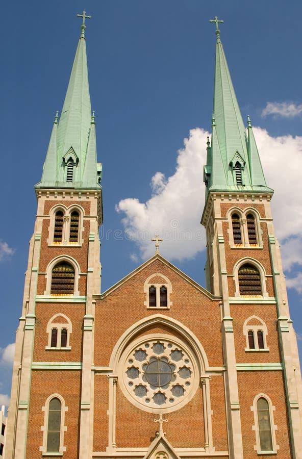 De Spitsen Van De Kerk Stock Fotografie