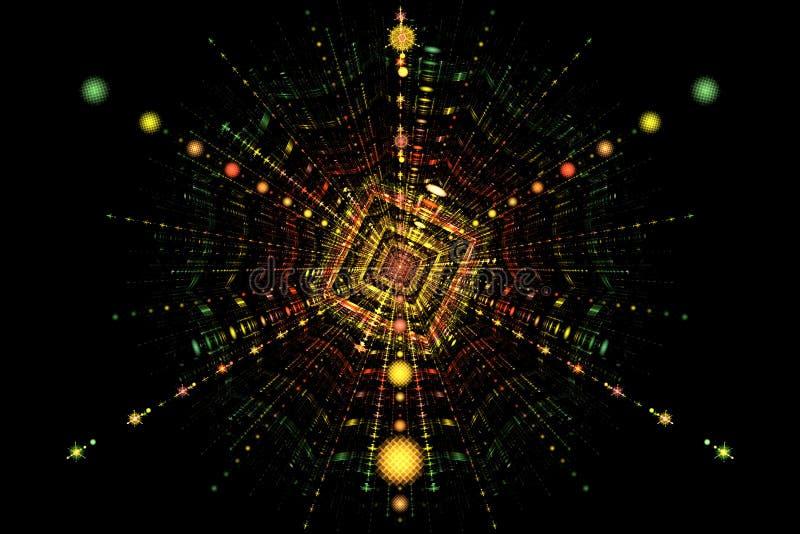 De splitsing van de deeltjesbotsing vector illustratie