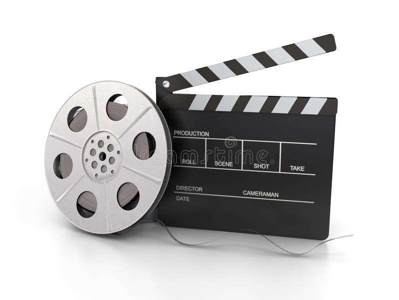 De spoel van Clapperboard en van de film vector illustratie