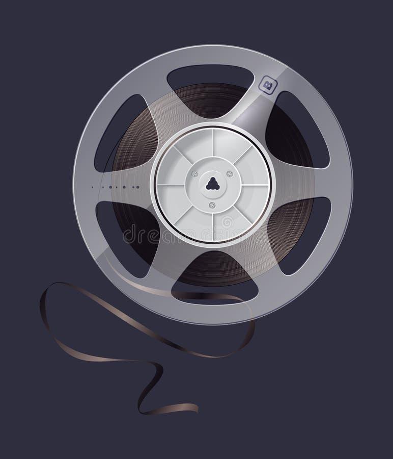 De spoel van het pictogram van magneetbandopname. royalty-vrije illustratie