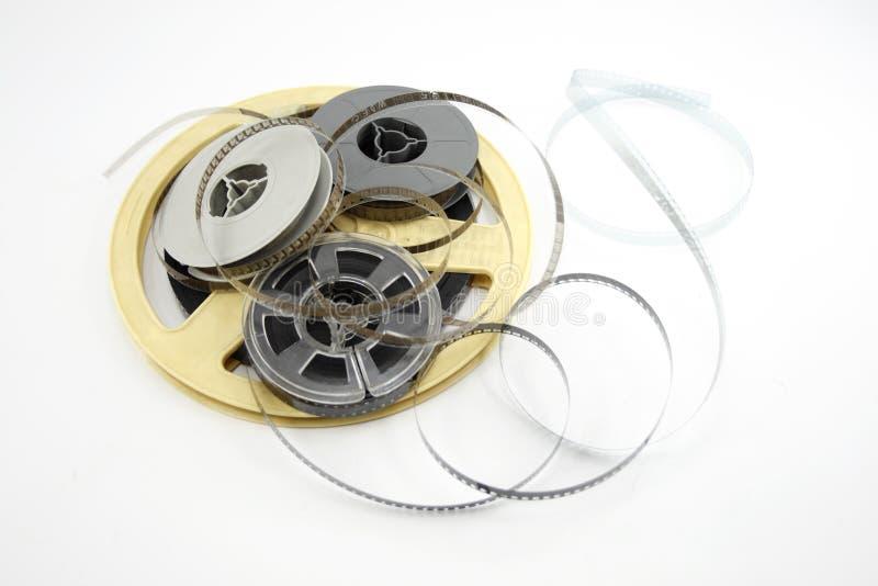 De spoelen van de film die op wit worden geïsoleerds royalty-vrije stock afbeelding