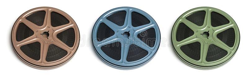 De Spoelen van de Film van de film stock foto