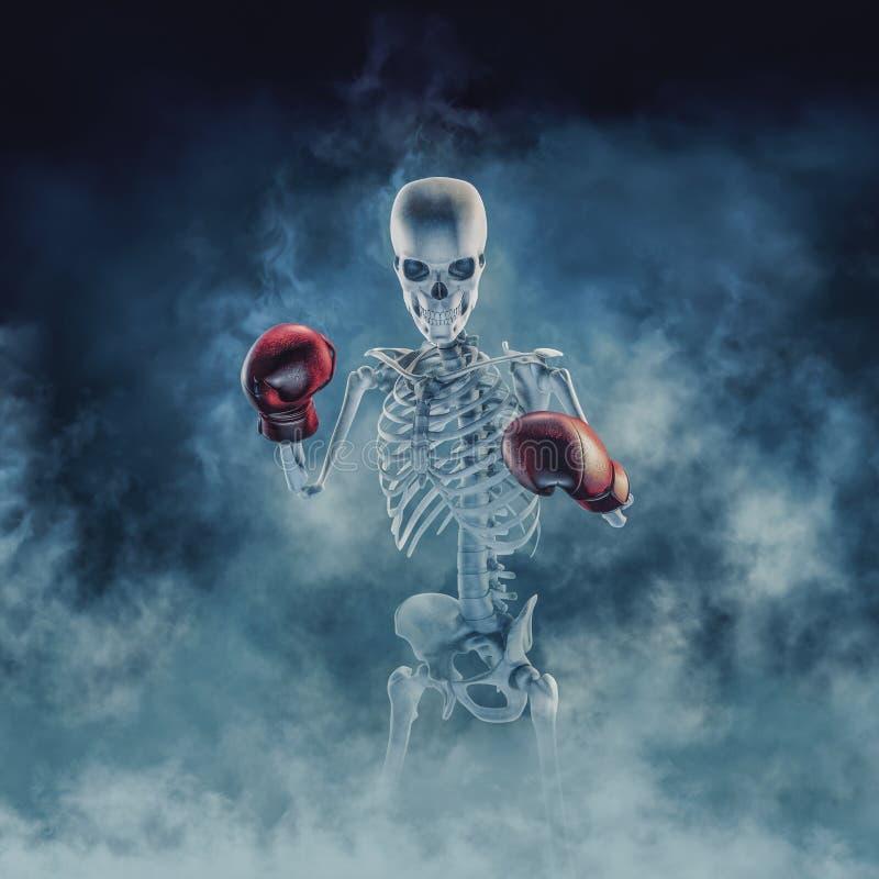 De spookbokser stock illustratie
