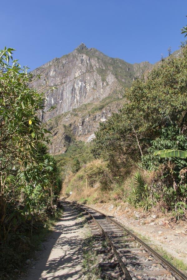 De spoorweg aan Machu Picchu royalty-vrije stock afbeelding