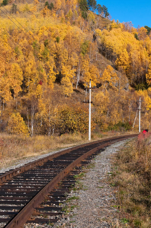 De spoorweg circum-Baikal stock foto's