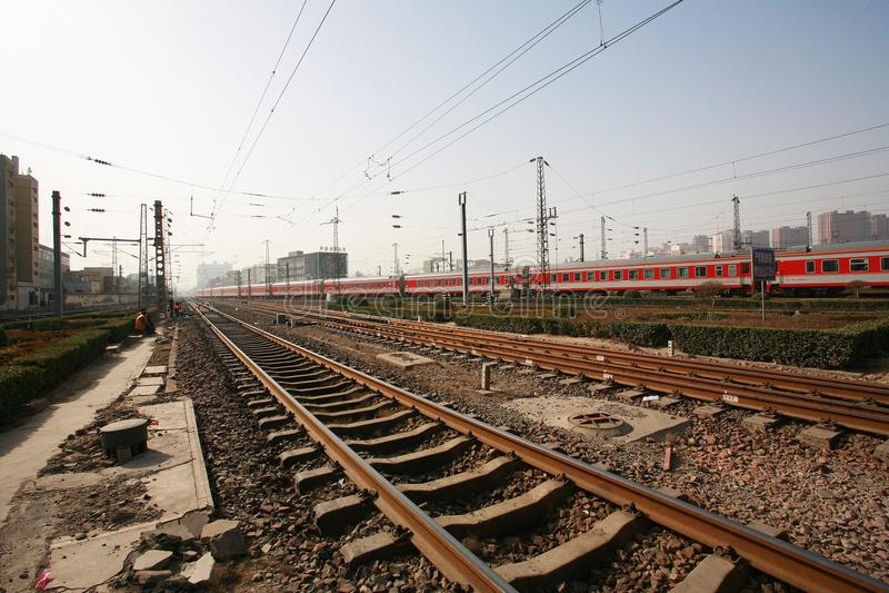 De Spoorweg van China royalty-vrije stock afbeeldingen