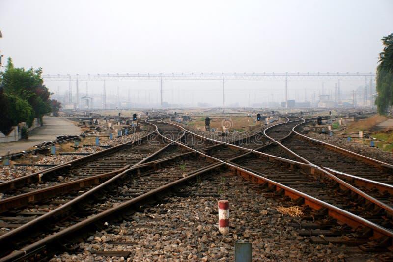 De Spoorweg van China stock afbeeldingen