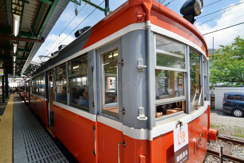 De spoorweg van Hakonetozan Gora-post Hakone, Kanagawa japan royalty-vrije stock foto's