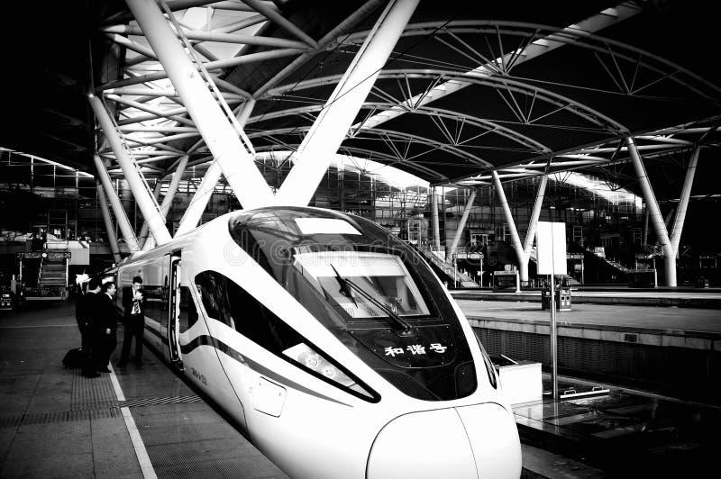 De Spoorweg van het Guangzhouzuiden, de provincie van Guangdong, China stock foto
