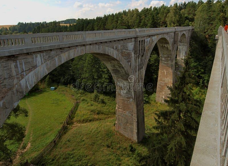 De spoorweg van Stanczykiaquaducten royalty-vrije stock afbeeldingen