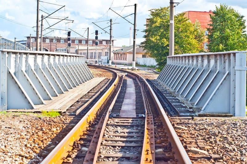 De spoorwegbrug 3 van het ijzer royalty-vrije stock fotografie
