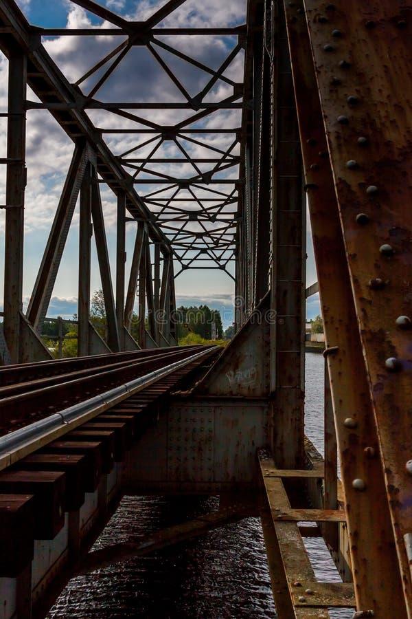 De spoorwegbrug royalty-vrije stock afbeelding