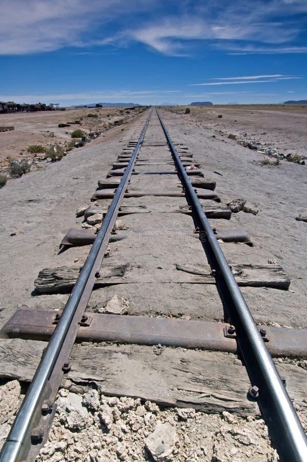 De Sporen en de Horizon van de trein royalty-vrije stock afbeeldingen