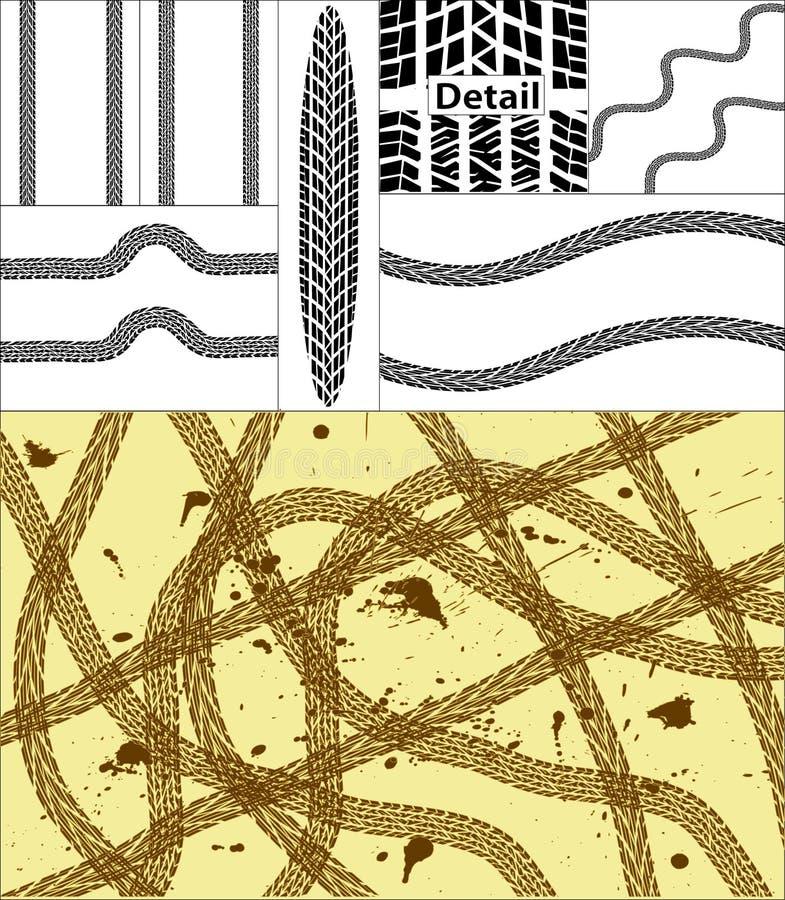 De sporen van de band stock illustratie