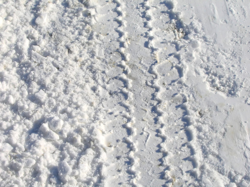 De Sporen van de sneeuw royalty-vrije stock afbeelding