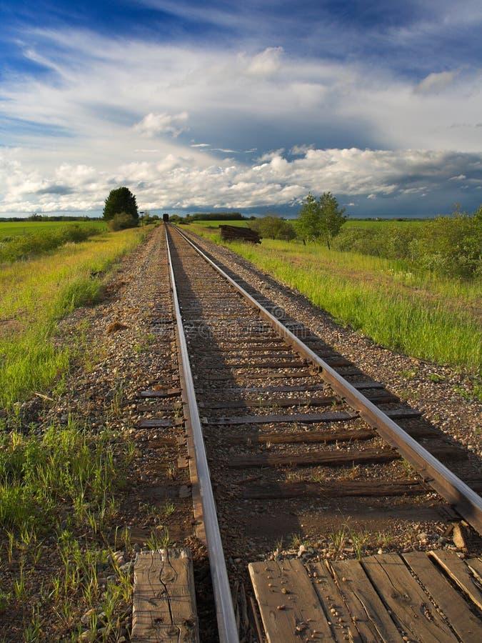 De Sporen van de spoorweg royalty-vrije stock afbeeldingen