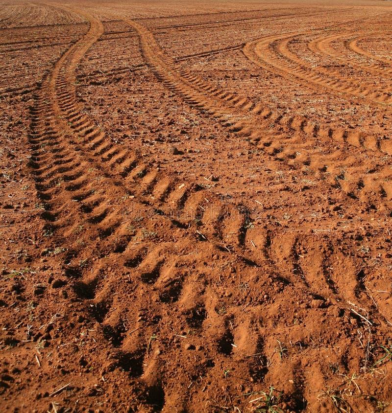 De Sporen van de tractor royalty-vrije stock foto's
