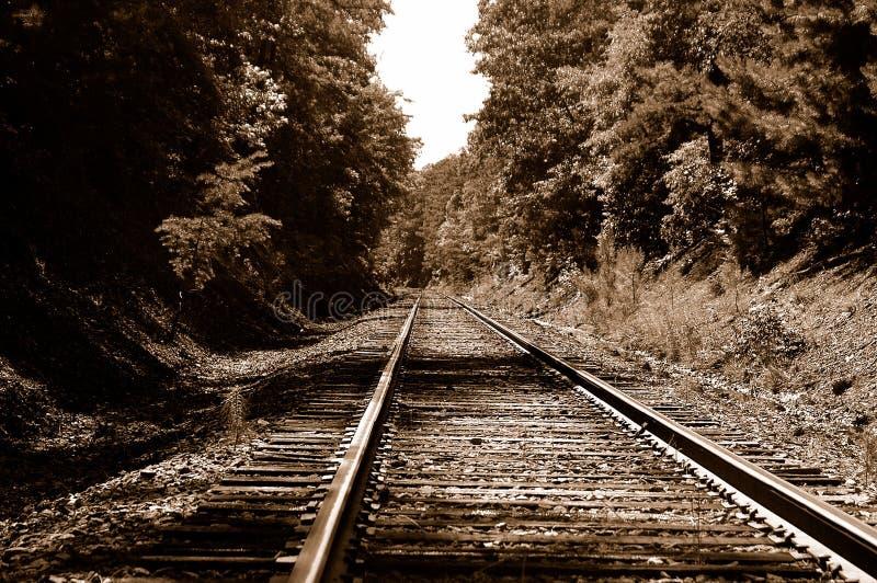 De Sporen van de Weg van het spoor stock foto's