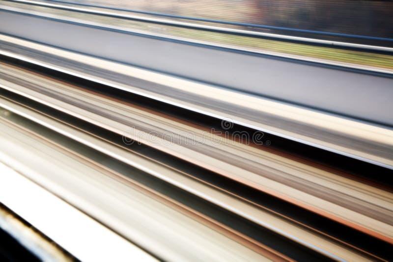 De sporenachtergrond van de spoorweg stock afbeeldingen
