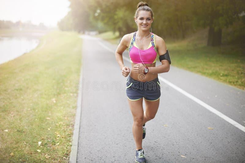 De sport is haar hartstocht royalty-vrije stock foto's