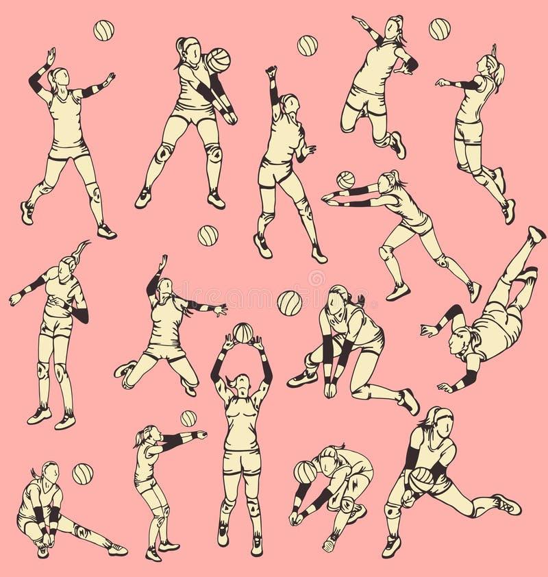 De Sport van de de Balactie van het vrouwensalvo royalty-vrije illustratie
