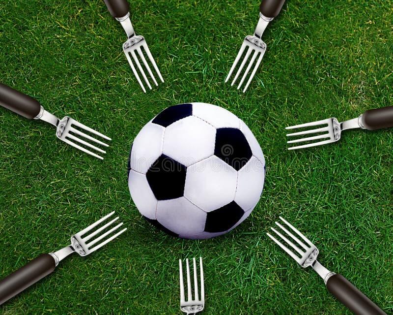 De sport van de voetbal royalty-vrije stock afbeelding