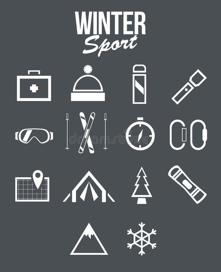 De sport van de winter royalty-vrije illustratie