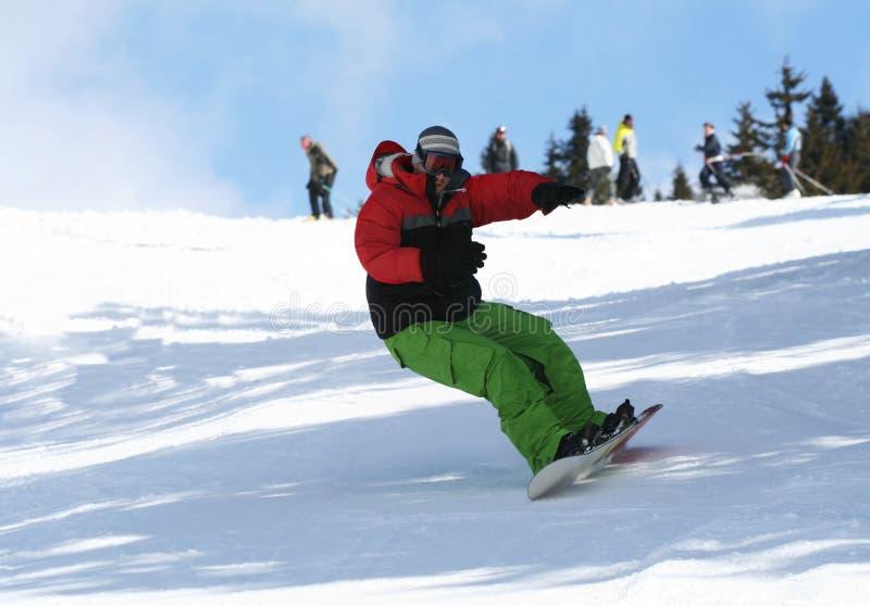 De sport van de winter het snowboarding stock afbeeldingen