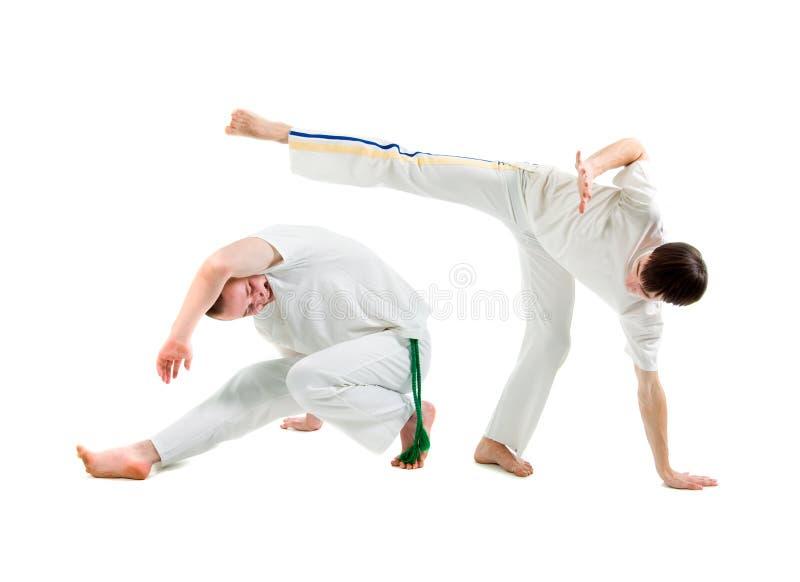 De Sport van het contact. Capoeira. stock afbeeldingen