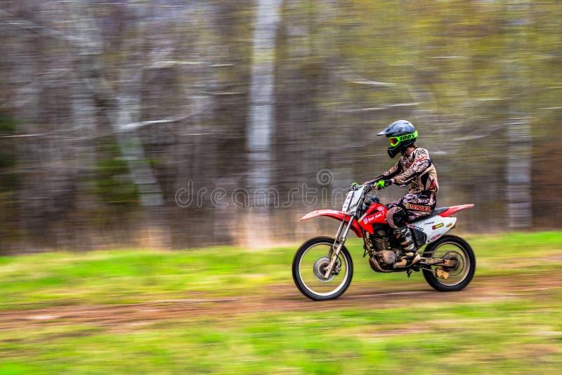 De sport van het motorras stock fotografie