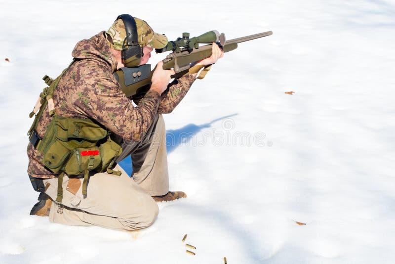 De Sport van het Vuurwapen van de winter stock afbeeldingen