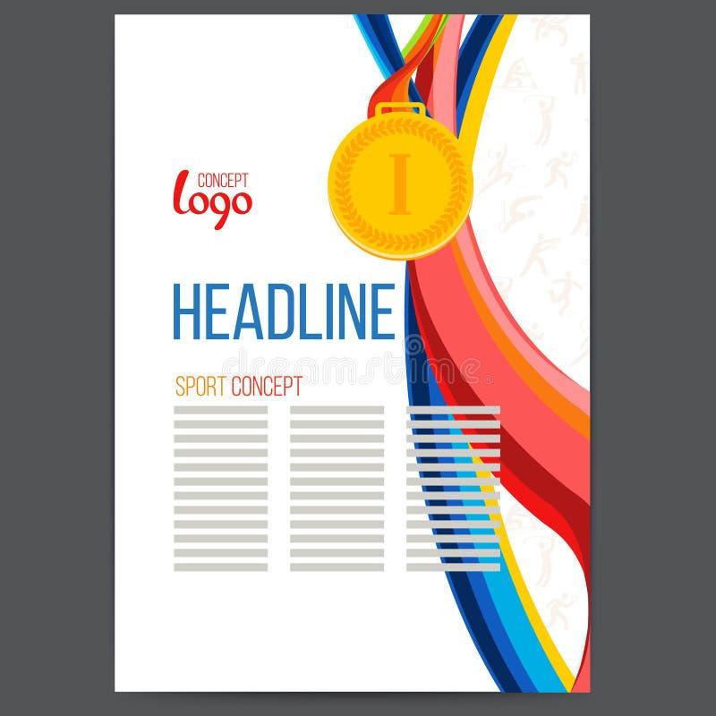 De sporten kennen een gouden medaille bij de achtergrond toe royalty-vrije illustratie