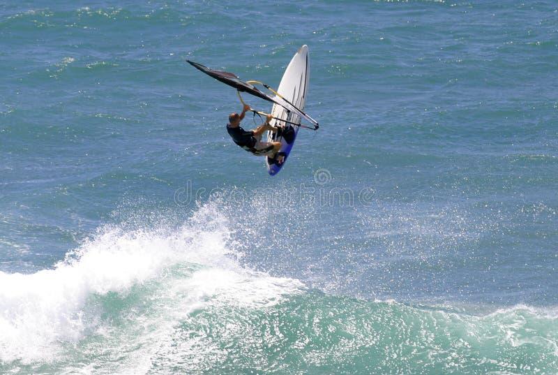 De Sporten Windsurfing van de actie stock foto