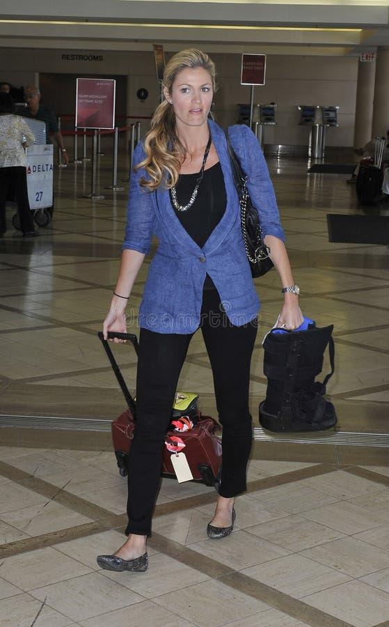 De sportenpresentator Erin Andrews van de televisie bij LOS royalty-vrije stock afbeeldingen
