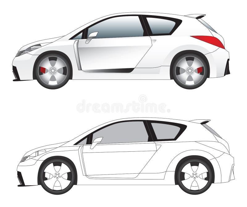 De sportieve vector van de autoillustratie royalty-vrije illustratie
