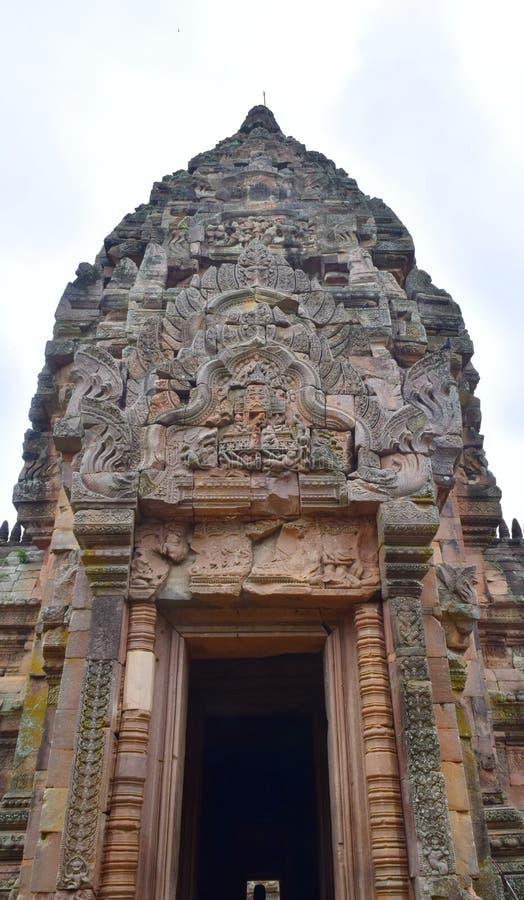 De Sportkasteel van Khaophanom, de oudste plaats in geschiedenis in Buriram, Thailand royalty-vrije stock afbeeldingen