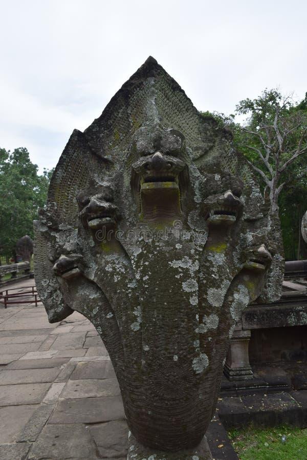 De Sportkasteel van Khaophanom, de oudste plaats in geschiedenis in Buriram, Thailand royalty-vrije stock afbeelding