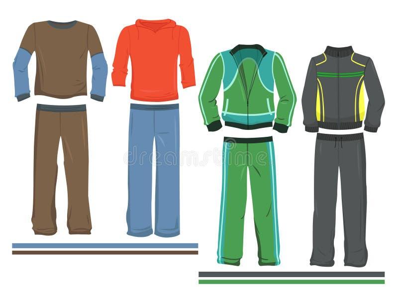 De sportkleding van mensen stock illustratie