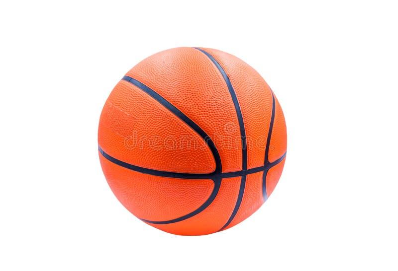 De sportuitrusting van de recreatievrije tijd met een basketbal Geïsoleerde stock foto's