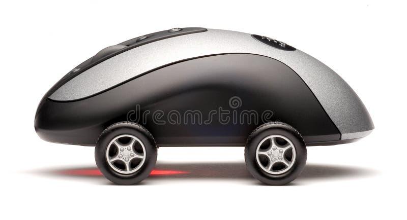 De Sportwagen van de Muis van de computer stock foto