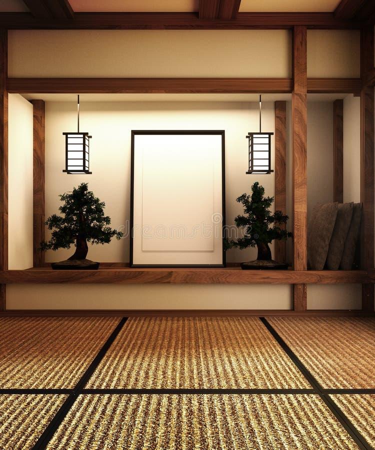 De spot omhoog, ontwierp specifiek in Japanse stijl, lege ruimte het 3d teruggeven stock illustratie