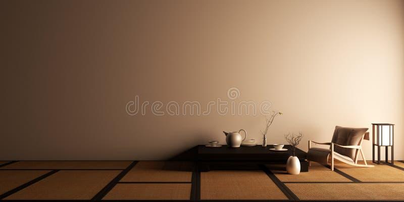 De spot omhoog, ontwierp specifiek in Japanse stijl, lege ruimte het 3d teruggeven royalty-vrije illustratie