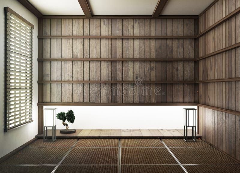 De spot omhoog, ontwierp specifiek in Japanse stijl, lege ruimte het 3d teruggeven vector illustratie