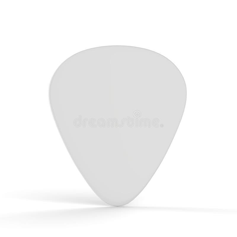 De Spot van de gitaaroogst omhoog op Geïsoleerde Witte Achtergrond royalty-vrije illustratie
