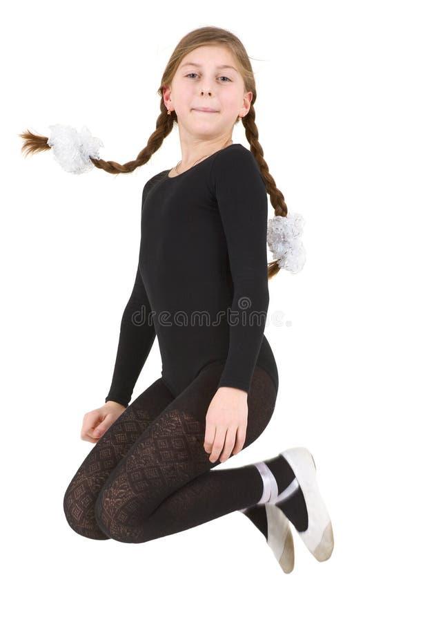 De sprong van de balletdanser royalty-vrije stock foto