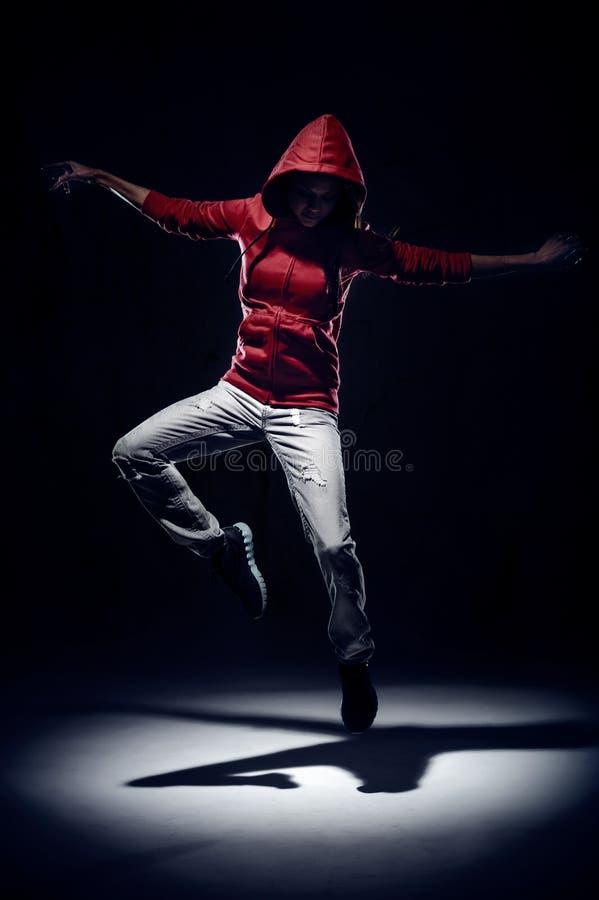 De sprong van de danser stock foto's