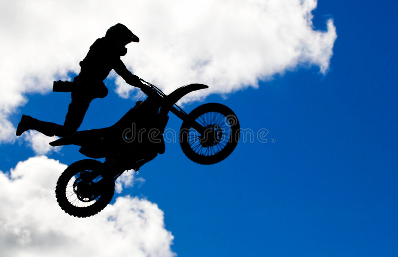 De sprong van de motocross royalty-vrije stock afbeeldingen