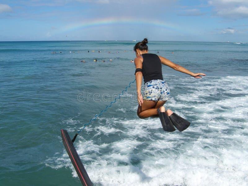 De sprong van de regenboog royalty-vrije stock fotografie